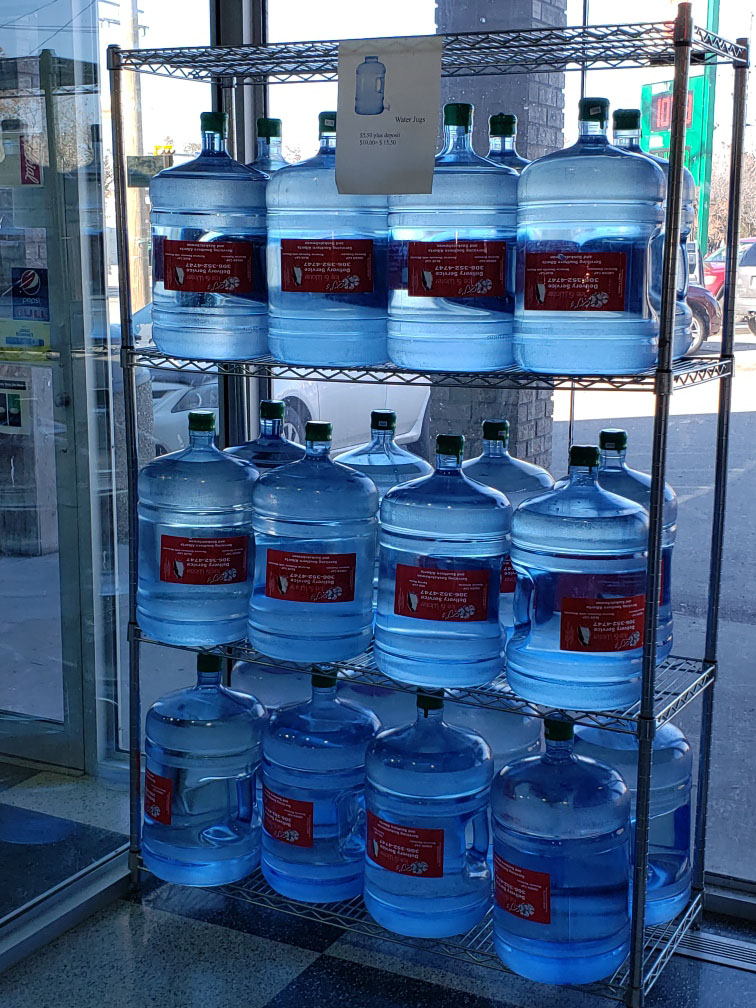 Bottled water at Kliens convenience store-2