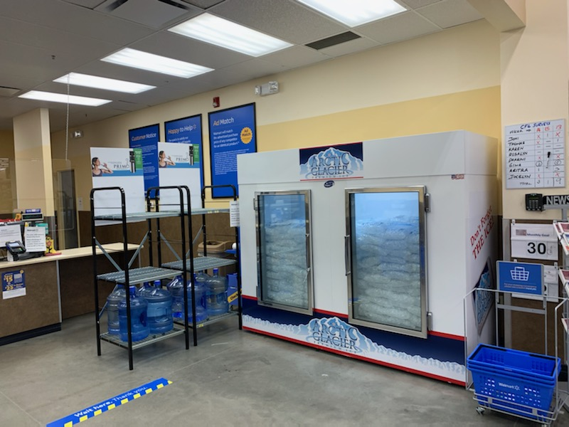 Get your ice at Wal-mart in Kindersley