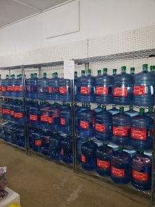 bottled water at Qu'appelle grocery store