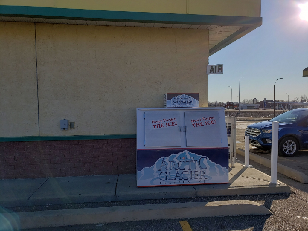 Ice delivery in Swift Current