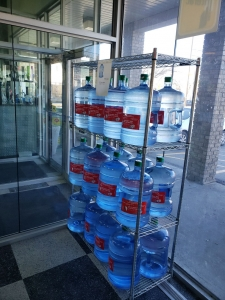 Bottled water at Kliens convenience store
