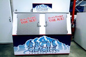 double slant freezer
